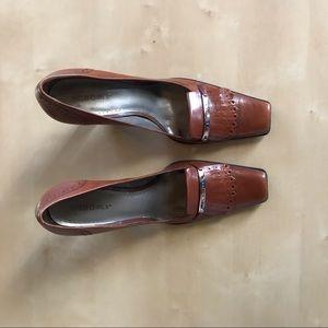 BCBG Brown Chunky Heels